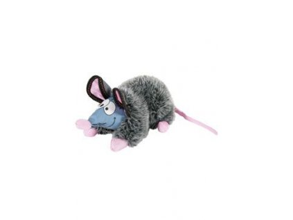 Hračka pes GILDA RAT plyš šedá