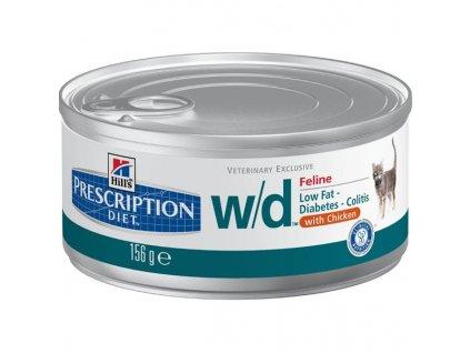 Hill's Prescription Diet Feline W/D konzerva - hrubě mletá 156 g