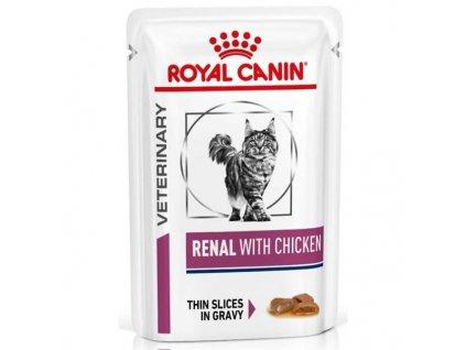 Royal Canin VD Cat kapsička Renal with chicken 12x80g