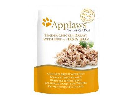 Applaws Cat kaps. kuřecí prsa a hovězí v aspiku 70 g