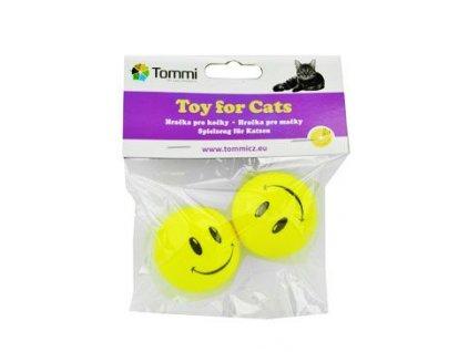 Hračka kočka Míček s obličejem  Tommi 2ks