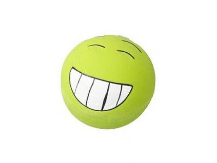 Hračka pes Míček Smajlík zelený latex
