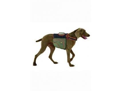 Batoh pro psy L zelená/oranž. reflexní KAR