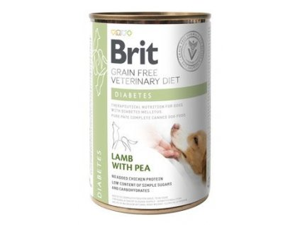 Brit VD Dog GF konzerva Diabetes 400g