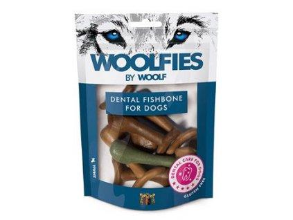 Pochoutka dentální Woolfies Dental Fishbone 200g