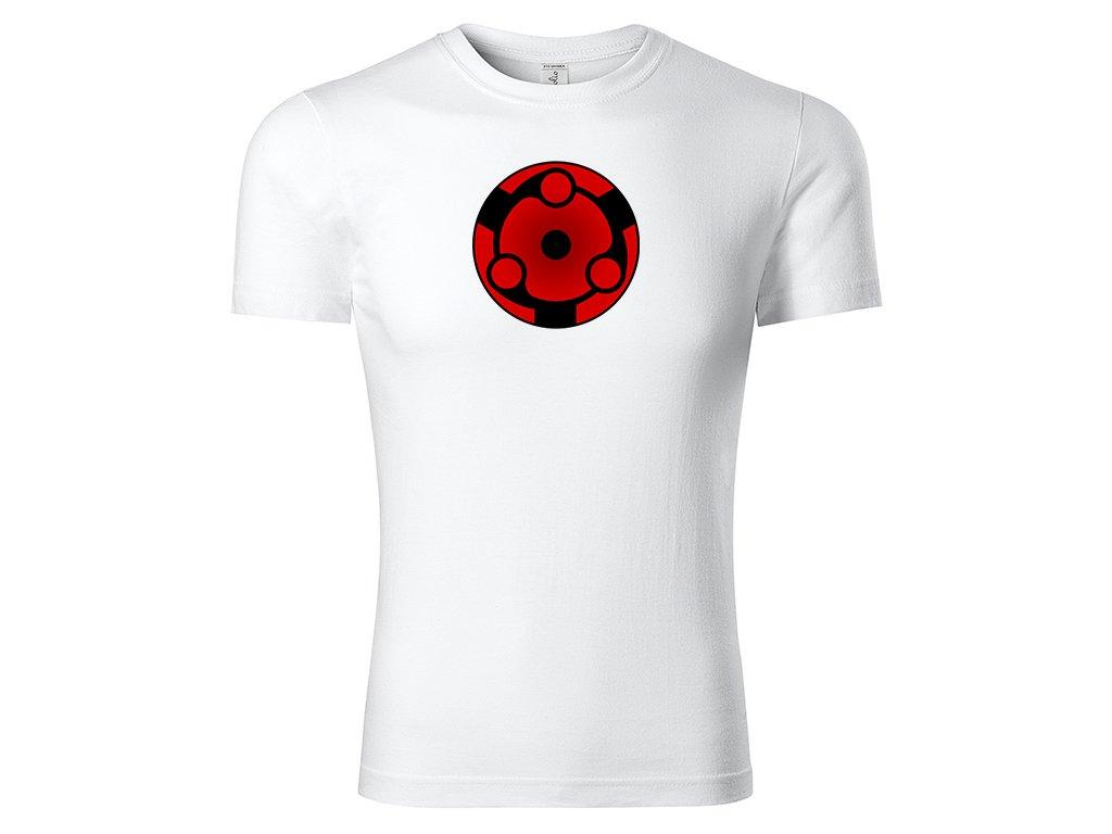 Tričko Eternal Mangekyō Sharingan Madara bílé
