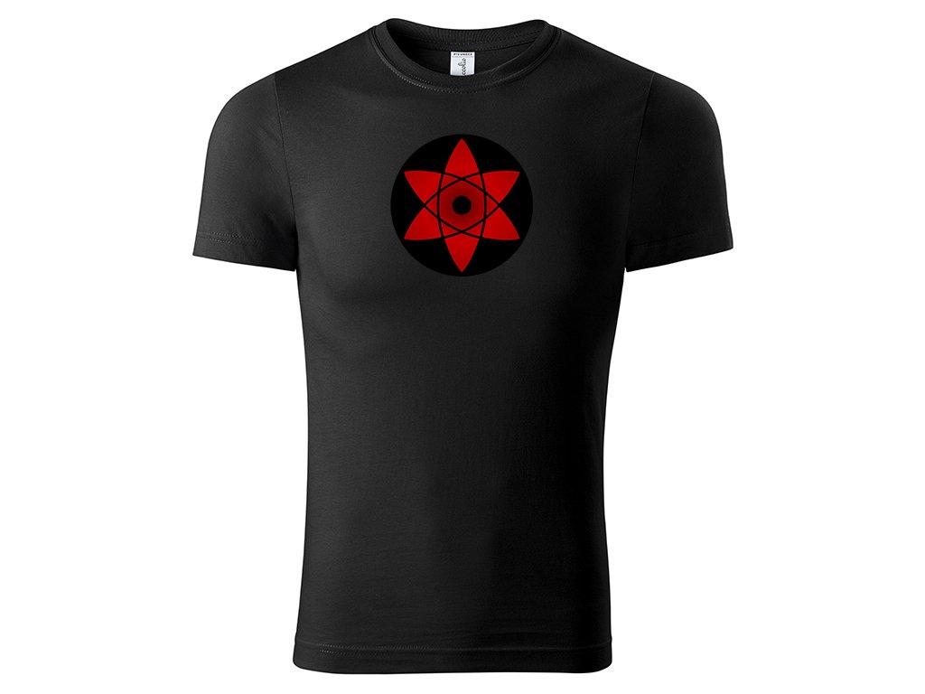 Tričko Mangekyō Sharingan Sasuke černé
