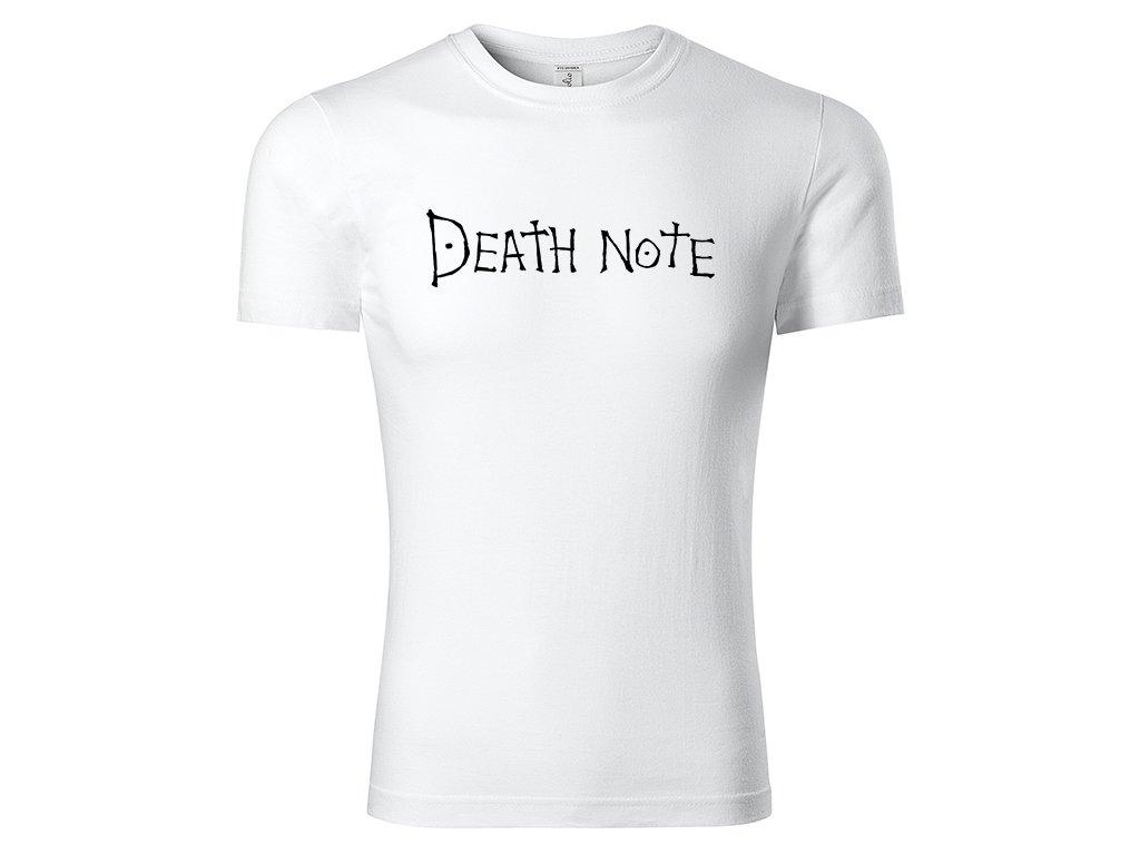 Tričko logo Death Note bílé