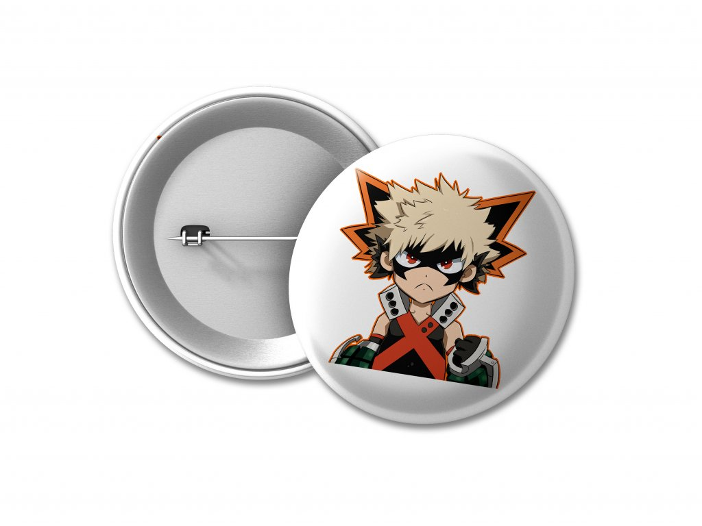 BUTTON Katsuki Bakugo PHOTO MOCK UP
