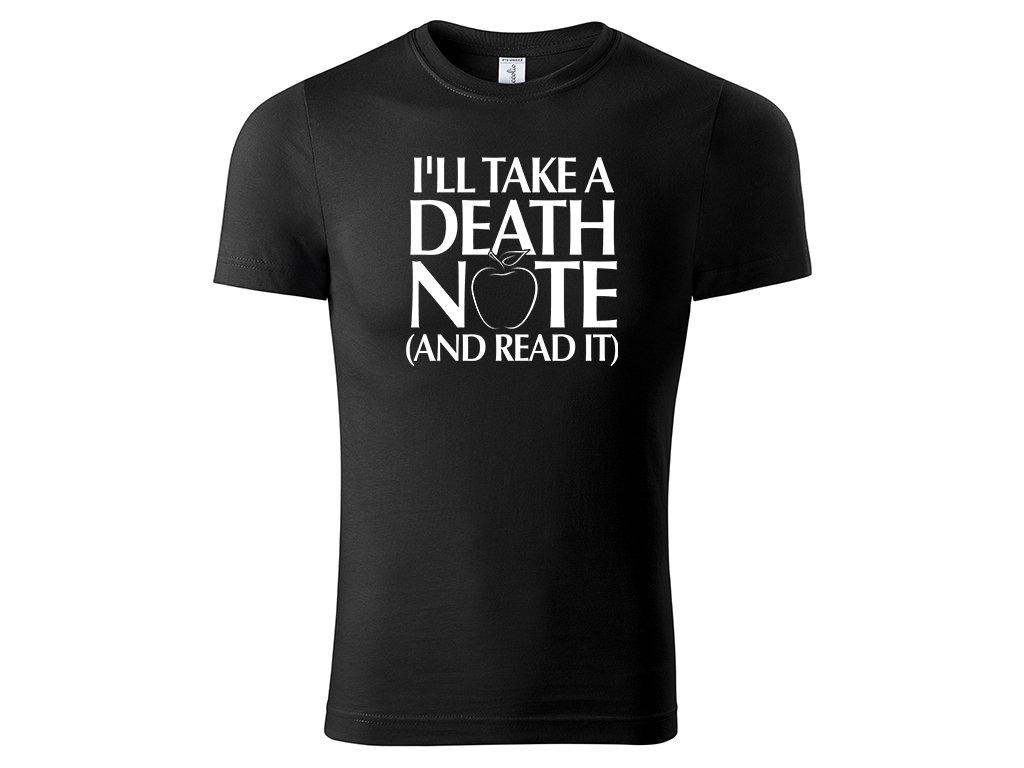 Tričko I'll Take a Death Note černé