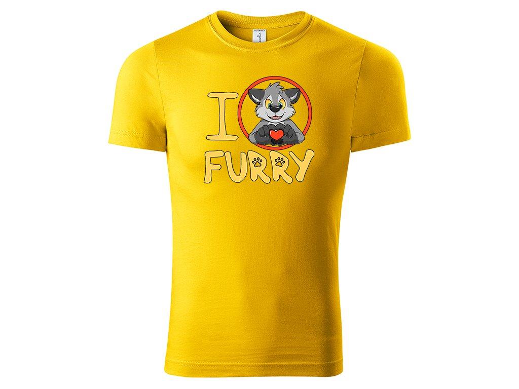 Tričko I Love Furry