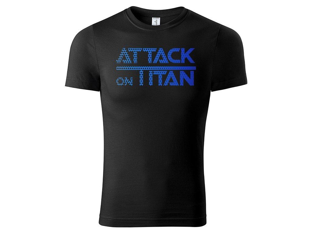Tričko Attack on Titan černé