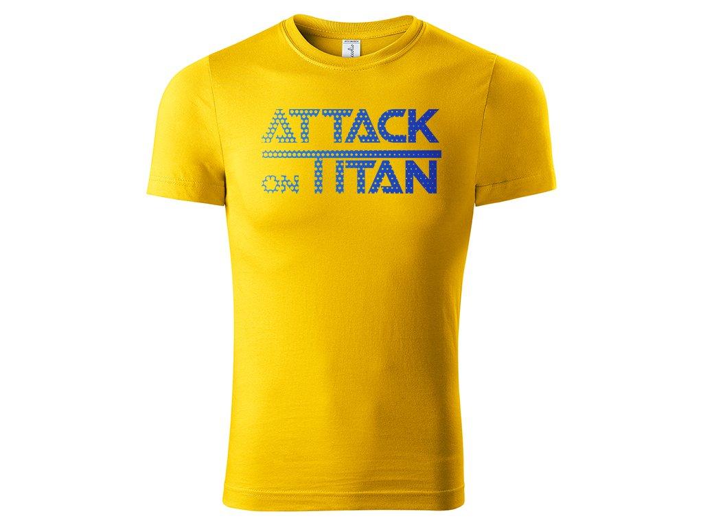 Tričko Attack on Titan žluté