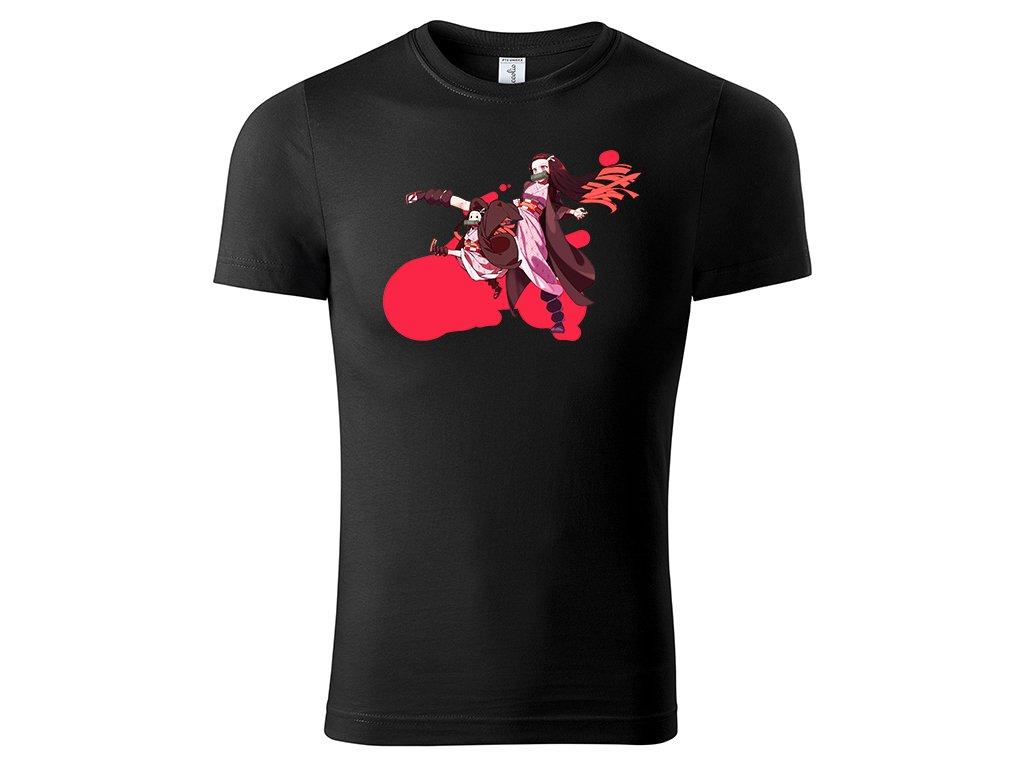 Tričko Nezuko černé