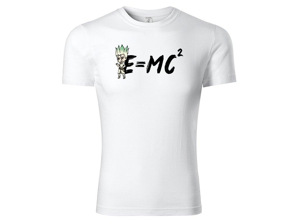 Tričko E = MC² bílé
