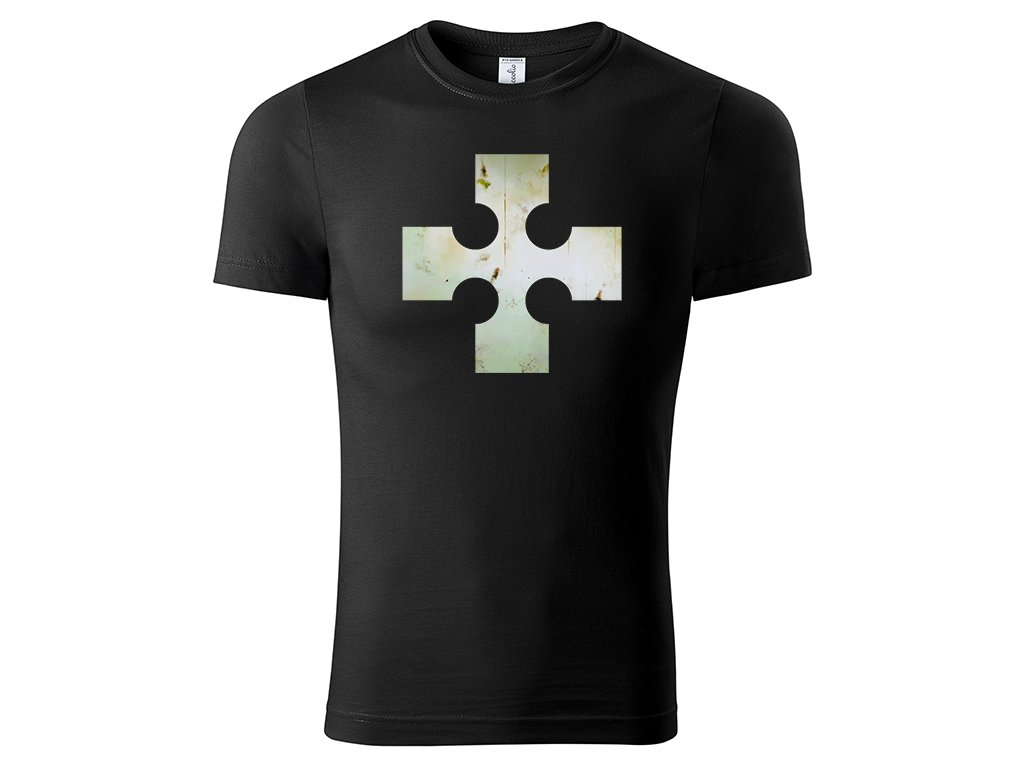 Tričko logo Cross černé