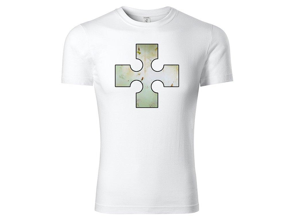 Tričko logo Cross bílé
