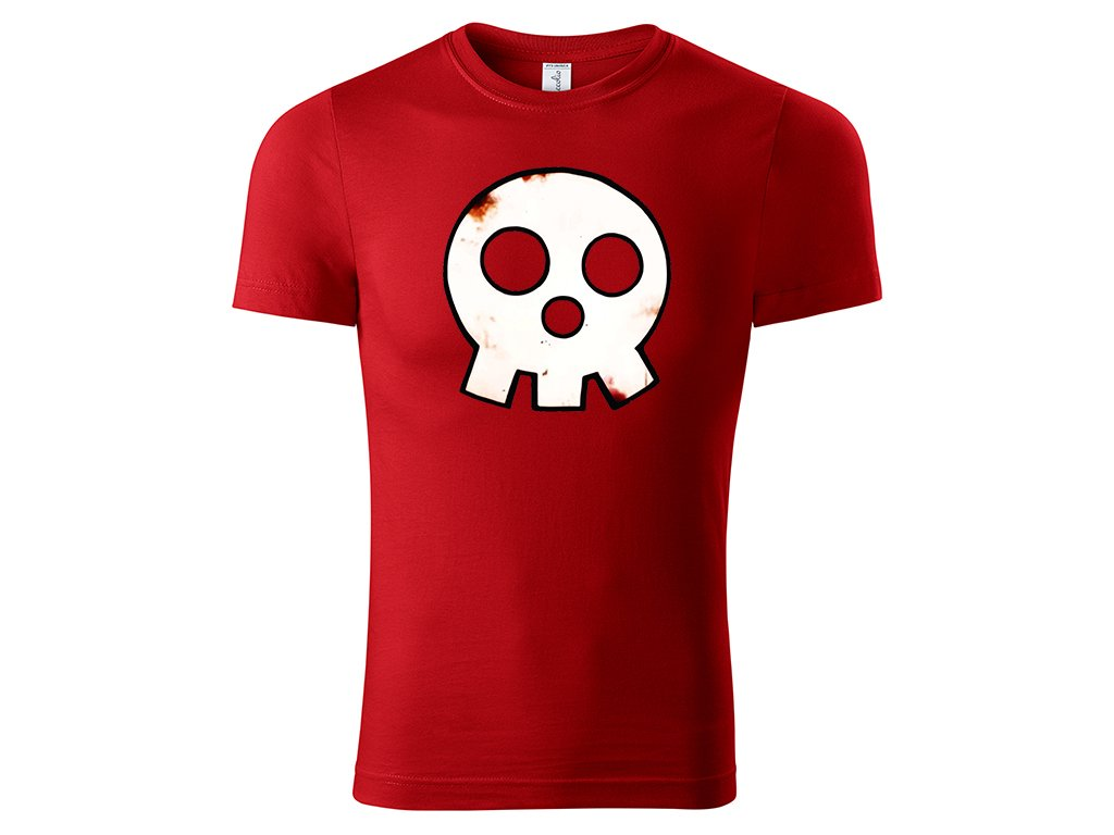 Tričko logo Skull červené