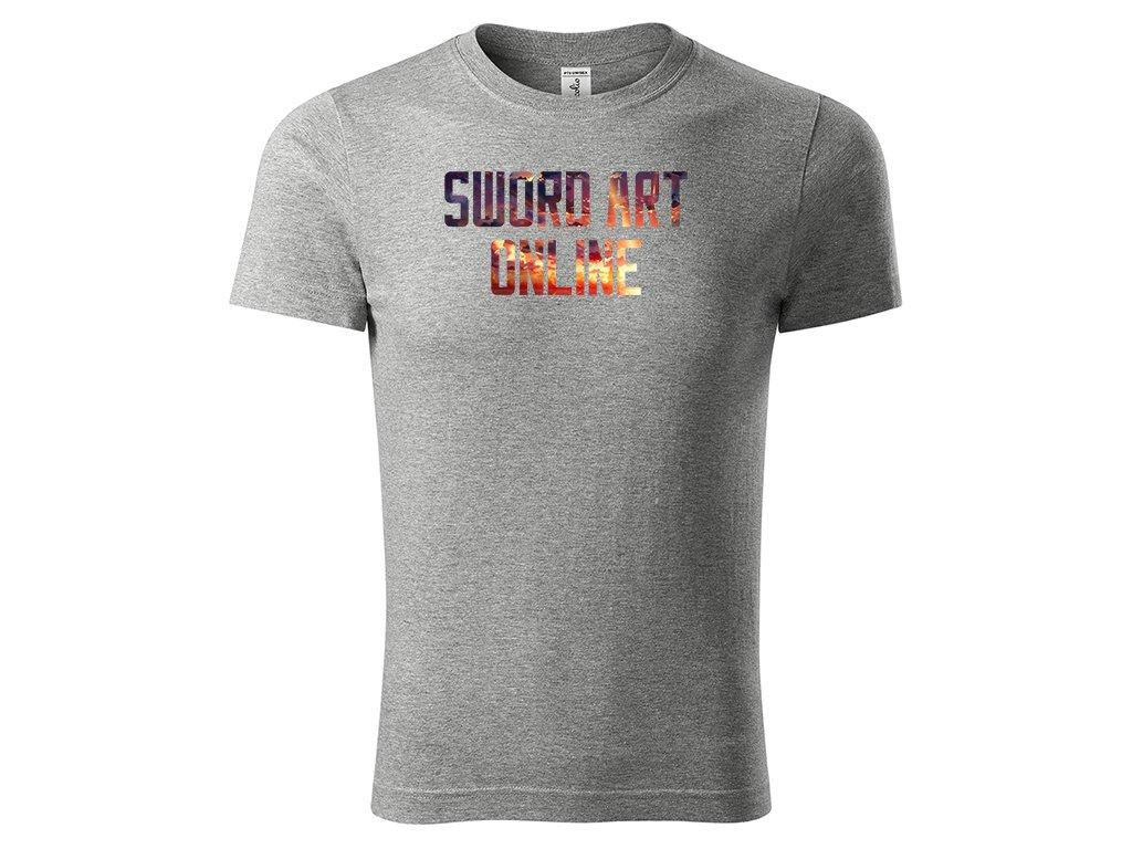 Tričko Sword Art Online šedé