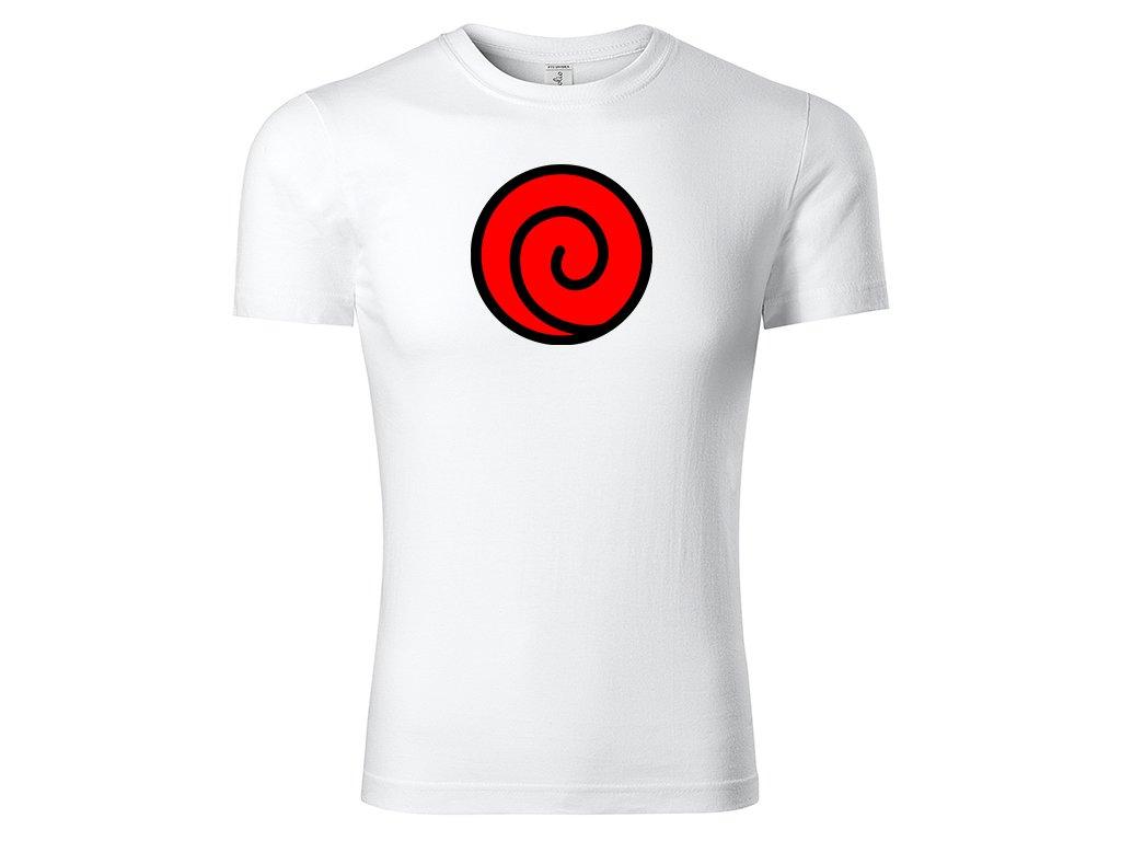 Tričko Uzumaki Clan Red bílé