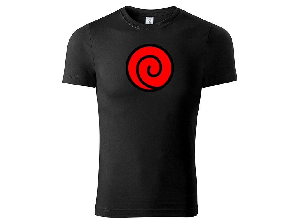 Tričko Uzumaki Clan Red černé