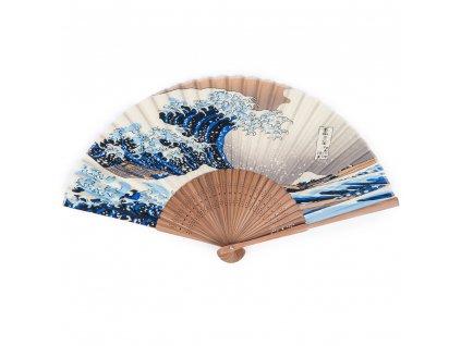 great wave japanese folding fan 1