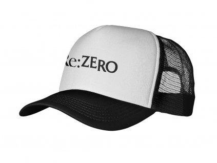 White logo ReZero Mock up Snapback RAP 5P UMÍSTĚNÍ NA ESHOP (v1.01)