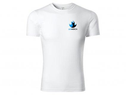 Bílé logo na prso Animerch Tričko Paint Picolio Eshop Mock up (V1.01)