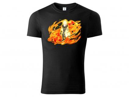 Tričko Naruto Six Path mode černé