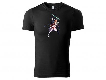 Tričko Kirito a Asuna Switch černé