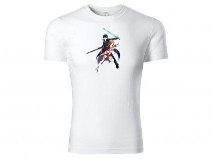 Tričko Kirito a Asuna Switch bílé