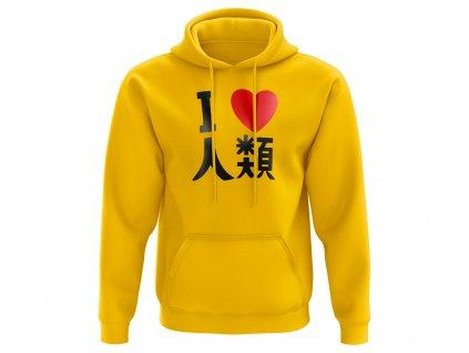 I love humanity yellow