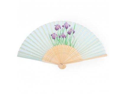 iris Japanese folding fan 1