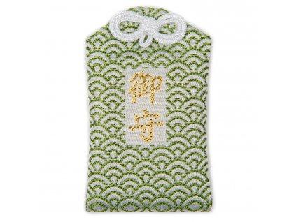 green seikaiha omamori lucky japanese charm 1