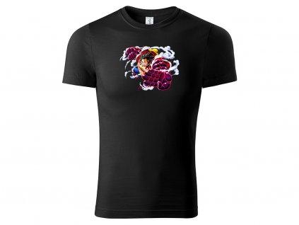 Tričko Luffy Bounce Man černé