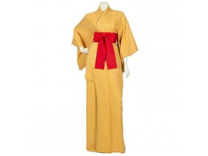 kiku japanese vintage silk kimono robe 1