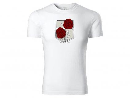 Tričko bílé Růže CLASSIC MOCK UP