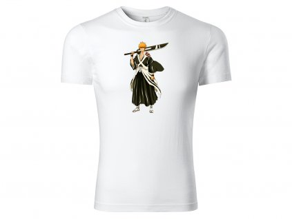 Tričko Bílé Kurosaki Ichigo CLASSIC MOCK UP