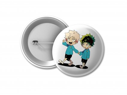 BUTTON Bakugo a Deku PHOTO MOCK UP