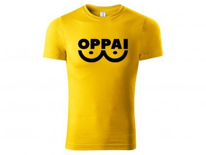 Tričko Oppai žluté