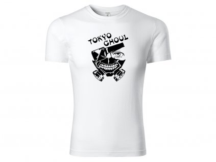 Tričko logo Tokyo Ghoul bílé
