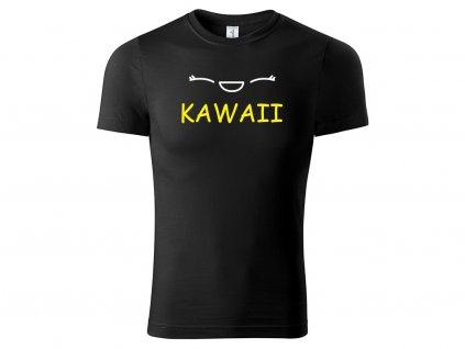 Tričko ČERNÉ KAWAII CLASSIC MOCK UP