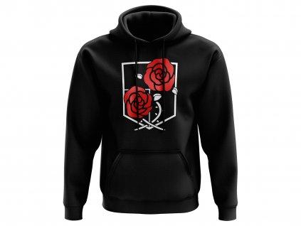 Mikina černá růže MOCK UP