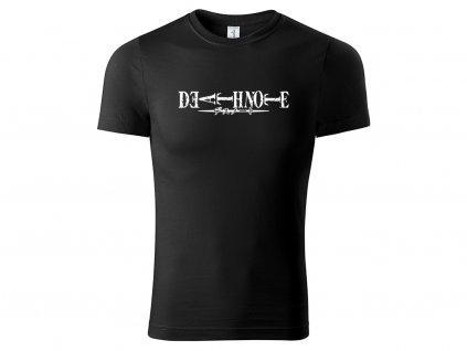 Tričko logo Death Note V2 černé