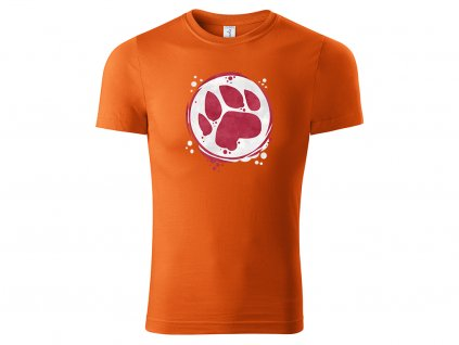 Tričko Paw oranžové