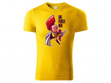 Tričko One Punch Man žluté