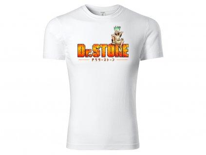 Tričko logo Dr. Stone bílé