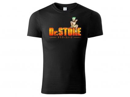 Tričko logo Dr. Stone černé