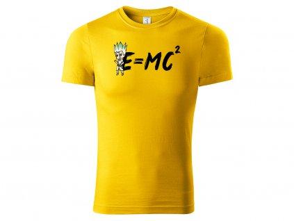 Tričko E = MC² žluté