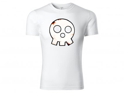 Tričko logo Skull bílé